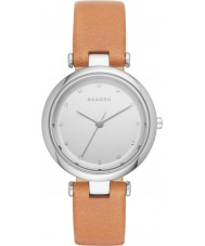 Skagen SKW2455 Panie tanja jasnobrązowy skórzany pasek zegarka