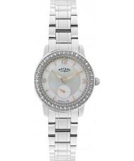 Rotary LB02700-41 Panie zegarki srebrny stalowy zegarek Cambridge