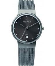 Skagen 355SMM1 Panie Klassik węgiel zegarek siatki stalowej