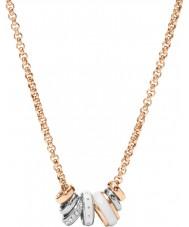 Fossil JF01122998 Classics Ladies wzrosła złoty naszyjnik stalowy