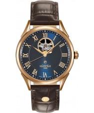 Roamer 550661-49-42-05 Mens szwajcarski matic brązowy skórzany pasek zegarka