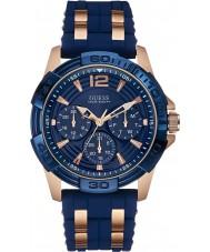 Guess W0366G4 Mężczyźni Oasis two tone silikonowy pasek zegarka
