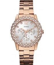 Guess W0335L3 dazzler Ladies wzrosła pozłacane bransoletę zegarka