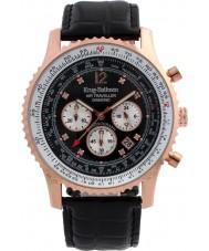 Krug-Baumen 600703DS Mężczyźni podróżnego powietrza diamond watch