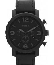 Fossil JR1354 Nate męskie chronograf czarny zegarek