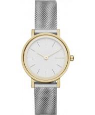 Skagen SKW2445 Panie Hald srebrna siatka stalowa bransoletka zegarek