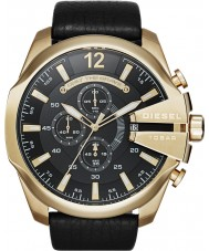 Diesel DZ4344 Mężczyźni mega szef złota czarny zegarek chronograf
