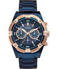 Guess W0377G4 Mężczyźni stali wstrząs niebieski zegarek chronograf