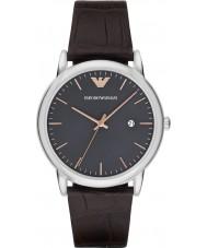 Emporio Armani AR1996 Mens Sukienka ciemnobrązowy skórzany pasek zegarka