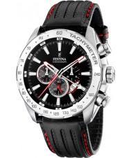 Festina F16489-5 Mężczyzna czarny zegarek chronograf Dual Time