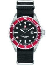Swiss Military 6-4279-04-007-04 Mężczyzna lew morski czarny nylon Pasek zegarka