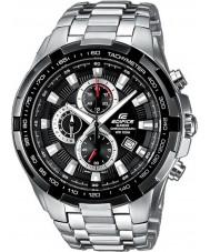 Casio EF-539D-1AVEF Mężczyźni gmach czarno-srebrny zegarek chronograf