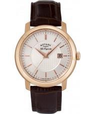 Rotary GS90093-06 Mężczyźni les originales brązowy skórzany zegarek