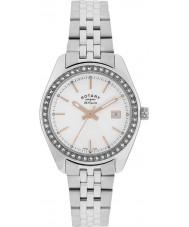 Rotary LB90110-21 Panie les originales Lausanne kamienia ustawić srebrny zegarek stalowy