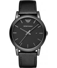 Emporio Armani AR1732 Mens classic czarny skórzany pasek zegarka