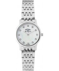 Rotary LB90016-07 Panie les originales bransoletka srebro stal zegarek