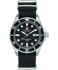 Swiss Military 6-4279-04-007-07 Mężczyzna lew morski czarny nylon Pasek zegarka