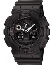 Casio GA-100-1A1ER Mężczyźni g-shock auto LED Light cały czarny zegarek
