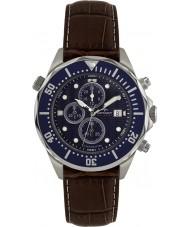 Rotary AGS00070-C-05 Mężczyźni AQUASPEED niebieski brązowy zegarek chronograf