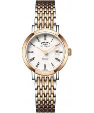 Rotary LB90155-01 Panie les originales Windsor two tone wzrosła pozłacany zegarek