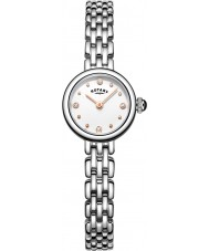 Rotary LB05052-02 zegarki damskie koktajl srebro stal bransoletka zegarek