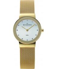 Skagen 358SGGD Panie Klassik zegarek oczka białe złoto