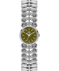 Orla Kiely OK4011 Panie laurowy srebrny matowy oliwkowy ton stali zegarek