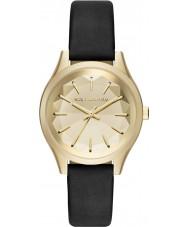 Karl Lagerfeld KL1617 Panie Belleville czarny skórzany pasek do zegarka