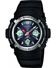 Casio AWG-M100-1AER Mężczyźni g-shock black sterowane radiem zasilany energią słoneczną zegarka sportowego