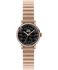 Orla Kiely OK4012 Frankie damskie czarny matowy wzrosła pozłacany zegarek