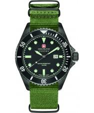 Swiss Military 6-4279-13-007 Mężczyzna lew morski zielony nylonowy pasek do zegarka