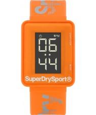 Superdry SYG204O Mężczyźni Sprint digi pomarańczowy silikonowy pasek zegarka