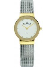 Skagen 358SGSCD Panie Klassik zegarek oczka białe srebro