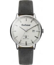 Barbour BB043WHGY Mężczyźni Whitburn szary skórzany pasek zegarka