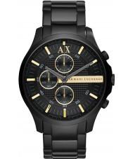 Armani Exchange AX2164 Mężczyzna cały czarny strój zegarek chronograf