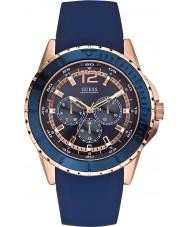 Guess W0485G1 Mens maverick niebieski pasek silikonowy zegarek