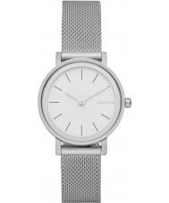 Skagen SKW2441 Panie Hald srebrna siatka stalowa bransoletka zegarek