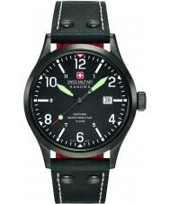 Swiss Military 6-4280-13-007-07 Mens tajnych czarny skórzany pasek zegarka