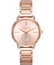 Michael Kors MK3640 Portia Women wzrosła pozłacane bransoletę zegarka