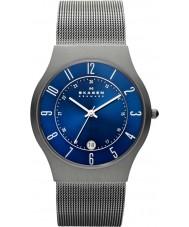 Skagen 233XLTTN Mężczyźni Klassik tytanu zegarek srebrny oczek
