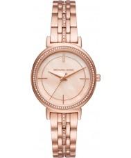 Michael Kors MK3643 Cinthia Women wzrosła pozłacane bransoletę zegarka