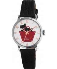 Radley RY2345 Panie granicy czerni i umbra skórzany pasek zegarka