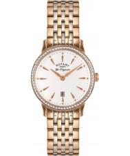 Rotary LB90057-06 Panie les originales Kensington wzrosła złoty zegarek ze stali