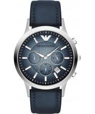 Emporio Armani AR2473 Klasyczne męskie chronograf srebrny niebieski zegarek