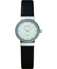 Skagen 358XSSLBC Panie Klassik czarny skórzany pasek zegarka