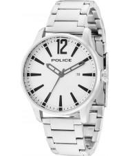 Police 14764JS-04M Mężczyźni dallas srebro stal bransoletka zegarek