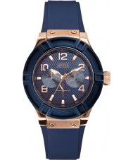 Guess W0571L1 Panie jet seter niebieski pasek silikonowy zegarek