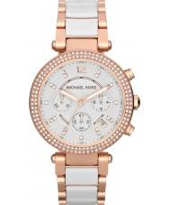 Michael Kors MK5774 Panie Parker two tone ceramiczne Chronograph zegarek
