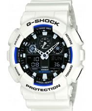 Casio GA-100B-7AER Mężczyźni g-shock czas światowy biała żywica pasek zegarka