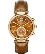 Michael Kors MK2424 Panie Sawyer chronograf whisky skórzanym paskiem zegarek